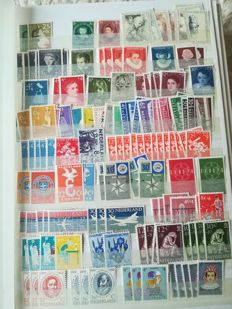 The Netherlands, 1941-2001 - collection of combinations in Davo album and batch of stamps in stockbook