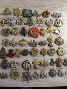 50 English beret emblems WWII and current
