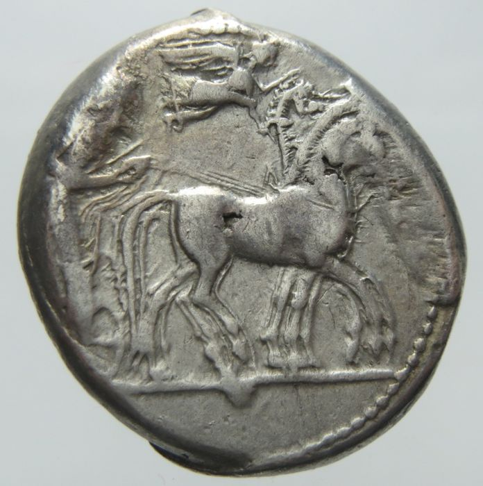 Greek Antiquity - Syracuse - AR Tetradrachm. Deinomenid Tyranny. Time of Hieron I, circa 480-475 BC.