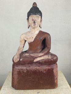 A Wooden Buddha image - Thailand - late 20th century
