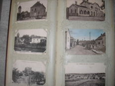 Superb Album with 360 old postcards of villages in the Haute Saône