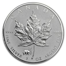 Canada - 5 Dollars 2017 'Maple Leaf Panda Privy' - 1 oz 999 Silver