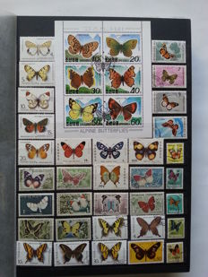 Thematic 1950/2000 - Butterflies, Flowers and Insects in stock book