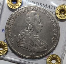 Grand-Duchy of Tuscany - ½ Francescone coin from 1777, Pietro Leopoldo of Lorraine (R2) - silver