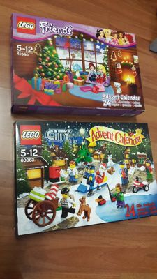 Calendars - 41040 + 60063 - Friends advent + City Town advent