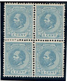 The Netherlands, 1872 - King William III - NVPH 19 in block of four