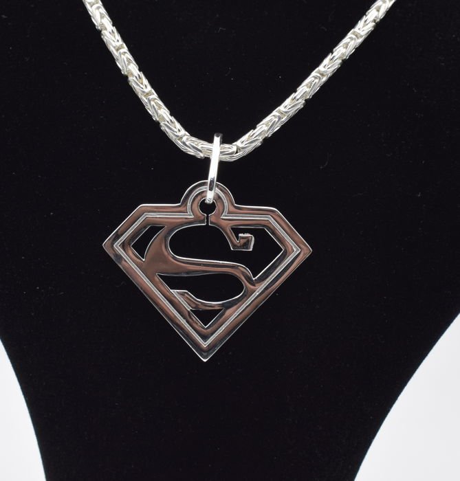 925 italian sterling silver chain with superman pendant 60 cm 925 italian sterling silver chain with superman pendant 60 cm mozeypictures Gallery