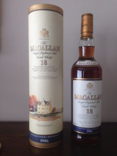 Macallan 1986 18 years old - Sherry wood matured - OB