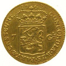 Holland - 1/2 Gold rijder of 7 guilders 1763 - gold