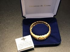Rare Stunning gold camrose and kross Jacqueline bouvier Kennedy First Lady USA 1961-63 boxed locket bracelet