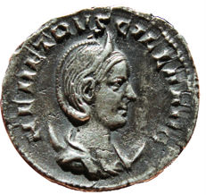 Roman Empire - Herennia Etruscilla, wife of Decius, 249-251 AD. AR Antoninianus. (21,63 mm  4,07 gr) Rome, AD 250. PVDICITIA AVG