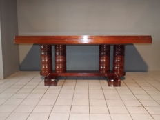 Gaston Poisson - Art Deco modernist mahogany table