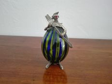 Clown in Murano glass and silver