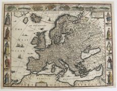 Europe; John Speed - Europ, and the cheife Cities contained therin, described; with the habits of most Kingdoms now in use - 1627