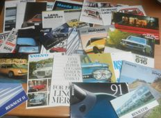 Lot 85 of car brochures from the sixties, seventies and eighties