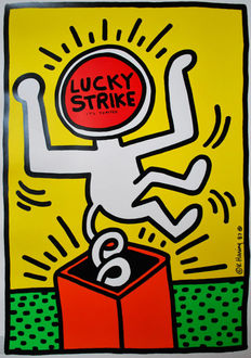 Keith Haring - Lucky Strike - 1987