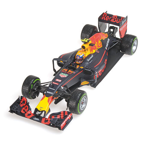 Minichamps - Schaal 1/18 - Red Bull F1 RB12 Formule-1 auto - Max Verstappen 3rd place GB Brazil 2016