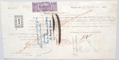 Curacao; Promissory note to buy the freedom of slaves on Curacao - 1863