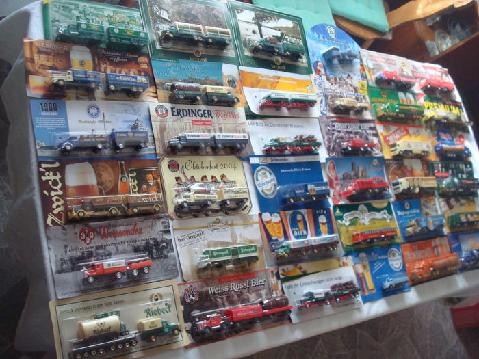 Collection - brewery trucks and advertising trucks, many classic cars and rarities, 71 pieces