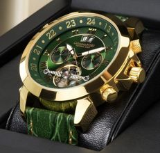 Calvaneo 1583 - Astonia Luxury Gold Green - Men's automatic wristwatch - New