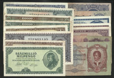 Hungary - 25 banknotes 1913/1993 - all different