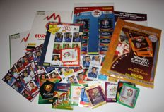 Panini - European Championship Football 2004 + 2008 + 2012 + 2016 + 2017 (Women) – Collectible lot of Multipacks + Empty albums + Sticker Sheets + Loose Packets