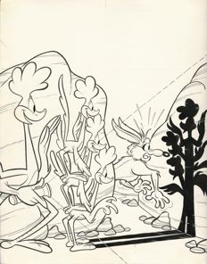 Unknown author - original cover for Bip Bip no. 5 (1975)