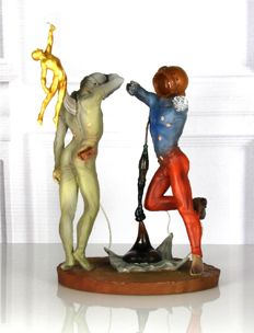 Salvador Dali - The Poetry of America-The Cosmic Athletes - Mouseion Collection