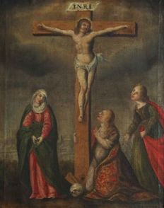 Catalan school of the 17th century - Crucifixion