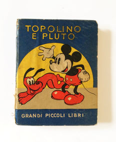"""Topolino e Pluto"" - illustrated volume, hardcover edition (1937)"