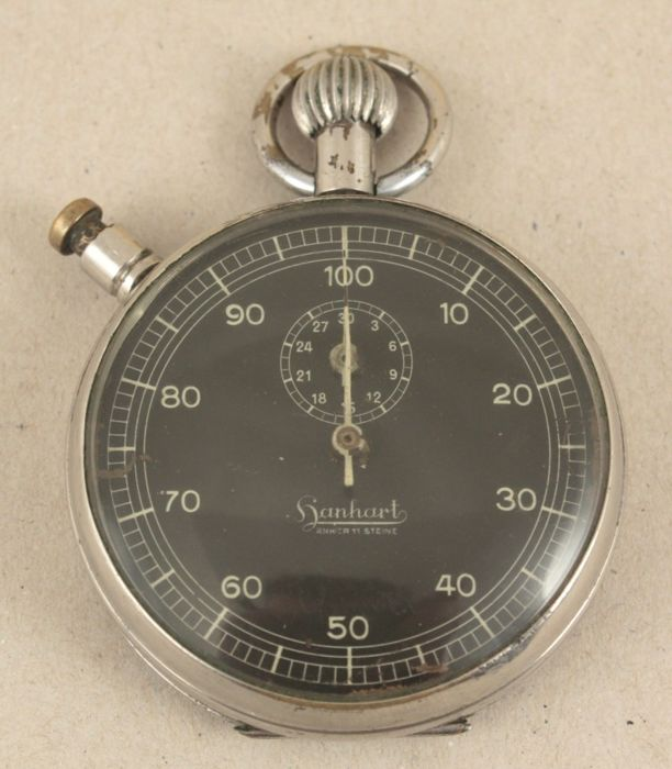 Hanhart - 1/1000 stopper - men's pocket watch - no reserve price