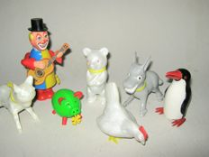 Köhler, Western Germany - div. Dimensions - Lot with 7 plastic mechanical figures, 1970s/1980s