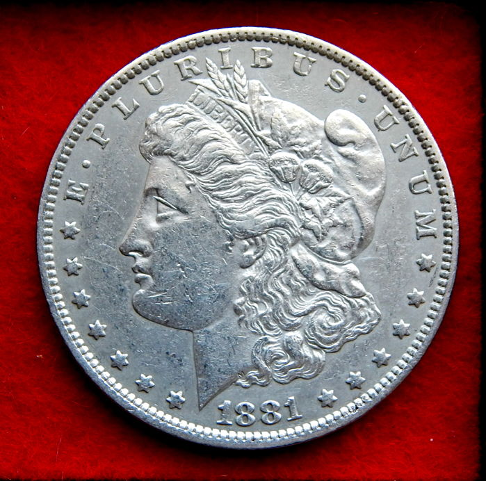 United States – Morgan Dollar 1881 O (New Orleans) – Silver