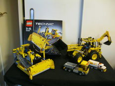 Technic - 42028 + 8069 -  Bulldozer + Backhoe Loader