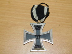Original Iron Cross 2nd class with a ribbon section