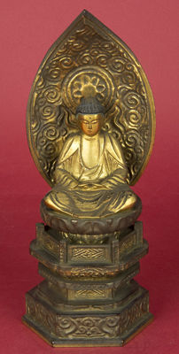Buddha, giltwood with varnish - Japan - 19th century