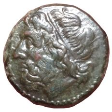 The Greek Antiquity - Sicily, Syracuse, Hieron II (274-216 BC) - Æ Litra (Bronze, 19mm, 6,50g.) - Head of Poseidon / Ornamented trident - CNS II, 197; HGC 2, 1550