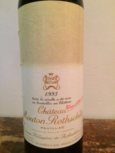 1993 Chateau Mouton Rothschild, Premier Grand Cru Classé - 1 bottle, U.S.A. label