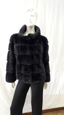 Blue mink fur jacket