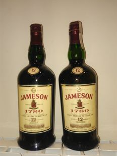 2 bottles - Jameson 1780. - 12 years old Special Reserve
