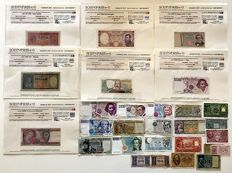 Italy - collection of 28 banknotes