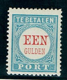 The Netherlands 1881 – Postage due number and value in red – NVPH P12, with certificate