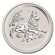 NEW! Australia - 1 Dollar 2018 - Lunar Calendar Dog - 1 oz 999 Silver