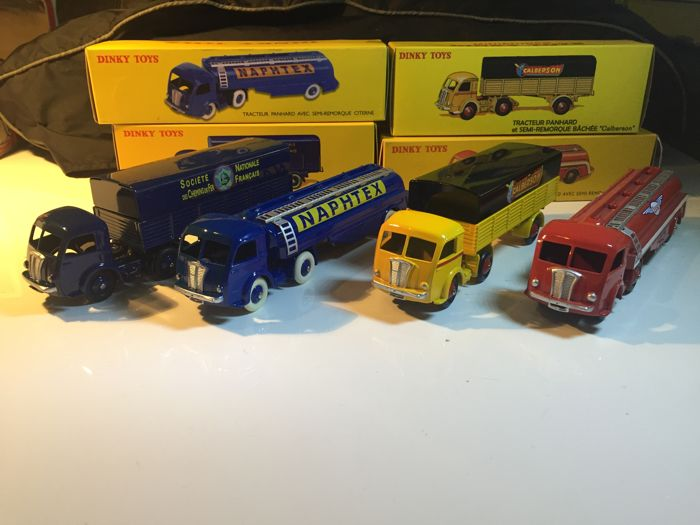Atlas-Dinky Toys - Scale 1/43 - Lot with 4 Panhard trucks & tankers