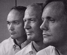 Yousuf Karsh (1908-2002) - Apollo II crew , Neil Armstrong , Buzz Aldrin and Michael Collins, 1969