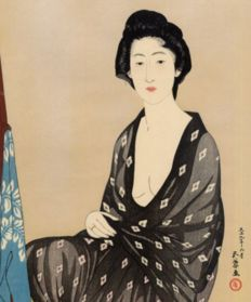 Print by Goyo Hashiguchi (recarved) - Japan - Circa 1980.