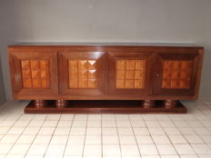 Gaston Poisson - Art Deco modernist mahogany sideboard