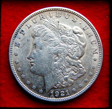 United States – Morgan Dollar 1921 (Philadelphia) – Silver