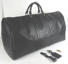 Louis Vuitton - Black Epi Leather Keepall 60