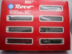 "Roco N - 02062S - 8x ""Hechtwagen"" Pike style passenger coaches set of the DR/DSG"